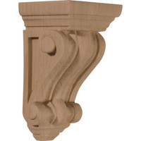 "2 1/4""W x 2 1/4""D x 4 1/4""H Devon Traditional Wood Corbel, Rubberwood"