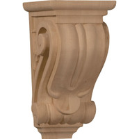 "3 1/2""W x 4""D x 7""H Small Classical Corbel, Hard Maple"