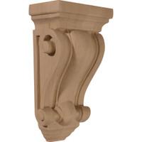 "4""W x 2 1/2""D x 7 1/2""H Cole Pilaster Wood Corbel"