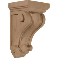 "4""W x 4""D x 7 1/2""H Devon Traditional Wood Corbel, Red Oak"