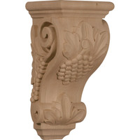 "4 1/2""W x 5""D x 10""H Medium Grape Corbel, Mahogany"