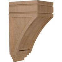 "5""W x 6""D x 10 1/2""H Medium San Juan Wood Corbel, Paint Grade"