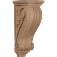 "5""W x 7""D x 14""H Large Classical Corbel, Red Oak"