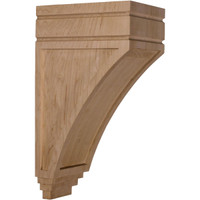 "5""W x 7 3/4""D x 14""H Large San Juan Wood Corbel, Cherry"