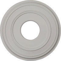 "12 3/8""OD x 4""ID x 1 1/8""P Classic Ceiling Medallion (Fits Canopies up to 5"")"