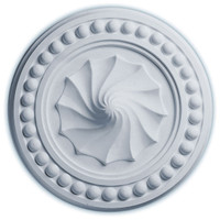 "15 3/4""OD x 2""P Foster Shell Ceiling Medallion"