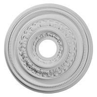 "17 5/8""OD X 3 5/8""ID X 1 7/8""P Orleans Ceiling Medallion"