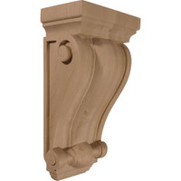 "7 1/2""W x 4 1/2""D x 14""H Cole Pilaster Wood Corbel, Red Oak"