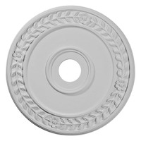 """21 1/8""""OD x 3 5/8""""ID x 7/8""""P Wreath Ceiling Medallion (Fits Canopies up to 6"""")"""