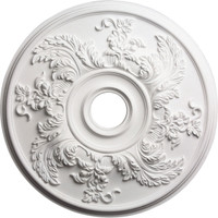 """23 5/8""""OD Acanthus Twist Ceiling Medallion (Fits Canopies up to 4 3/4"""")"""