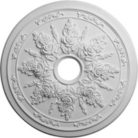 """23 5/8""""OD x 4""""ID x 1 1/2""""P Rose and Ribbon Ceiling Medallion"""
