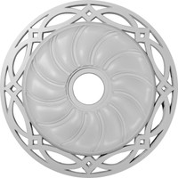 "26 5/8""OD x 4 1/2""ID x 1 3/8""P Loera Ceiling Medallion (Fits Canopies up to 6 1/4"")"