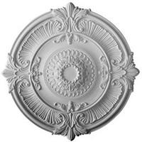 """53 1/2""""OD x 4 5/8""""ID x 3 1/2""""D Attica Acanthus Leaf Ceiling Medallion"""