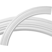 """43 1/4""""OD x 35 1/2""""ID x 3 7/8""""W x 1""""P Kent Ceiling Ring (1/4 of complete circle)"""