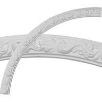 """40""""OD x 36""""ID x 2""""W x 7/8""""P Sussex Floral Ceiling Ring (1/4 of complete circle)"""