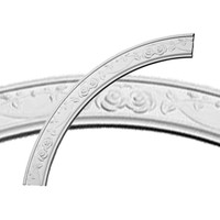 """41""""OD x 34 1/4""""ID x 3 3/8""""W x 3/4""""P Flower Ceiling Ring (1/4 of complete circle)"""
