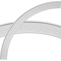 """44 1/2""""OD x 39 1/4""""ID x 2 3/4""""W x 5/8""""P Bedford Ceiling Ring (1/4 of complete circle)"""