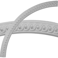 "54 1/4""OD x 50 1/4""ID x 2""W x 3/4""P Milton Running Leaf Ceiling Ring (1/4 of complete circle)"