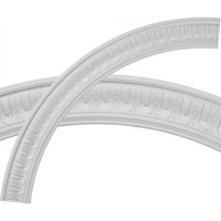 "55""OD x 46 3/4""ID x 4 1/8""W x 1 1/8""P Sequential Ceiling Ring (1/4 of complete circle)"