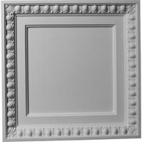"""24""""W x 24""""H x 2 3/8""""P Egg & Dart Ceiling Tile"""