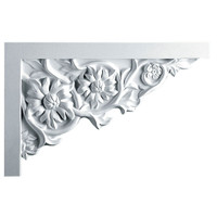 "11 3/4""W  x 7 7/8""H x  3/4""P Floral Large Stair Bracket, Right"