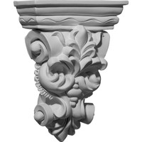 "6 1/4""W x 2 7/8""D x 8 1/4""H Leaf Bunch Corbel"