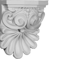 "6 3/8""W x 5 5/8""D x 9""H Quentin Shell Corbel"