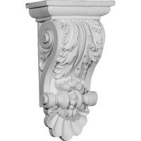 "8""W x 5""D x 14 7/8""H Acanthus Shell Corbel"