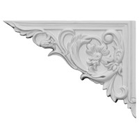 "8 5/8""W x 6 1/4""H x 5/8""D Flower Stair Bracket, Left"