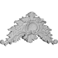 """16 1/4""""W x 8 3/4""""H x 1 5/8""""P Small Shell Center with Scrolls"""