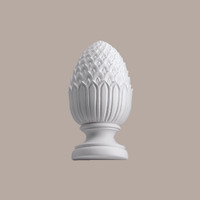PHFR6X14____FINIAL FULL RND PINEAPPLE 14X7-1/8X7-1/8