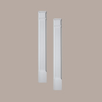 PIL9X90____PILASTER FLUTED MLD PLTH 90X9X3