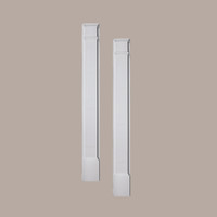 PIL9X90P____PILASTER PLAIN MLD PLTH 90X5-1/2X3