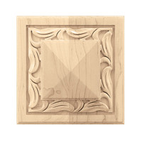 "CRV7076MA_6"" Sq Large Nouveau Rosette Maple"