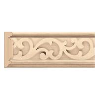 """MLD7024AL_3 1/2"""" Panel Moulding w/ Baroque Insert Alder"""