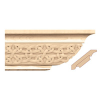 "MLD7030MA_4 1/4"" Crown Moulding w/ Gaelic Insert Maple"