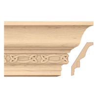 "MLD7036MA_5"" Light Rail Crown Moulding w/Gaelic Insert"