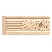 "MLD7058RO_3 1/2"" Panel Moulding w/ Nouveau Insert Red Oak"