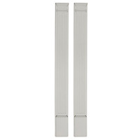 "8""W x 100""H x 2 3/4""D with 14"" Attached Plinth, Fluted Pilaster (each)"