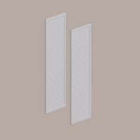 Fypon shutter___LVSH12X48FNB___SHUTTER LOUVERED 12X48X1 SMOOTH
