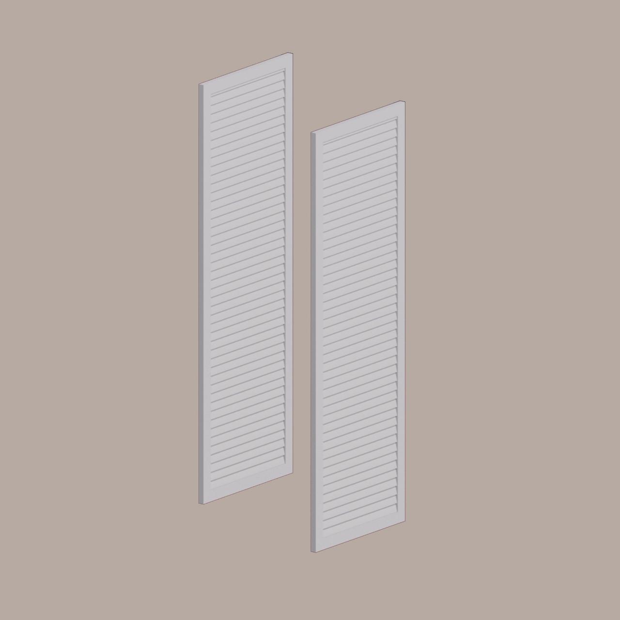 Fypon shutter___LVSH24X54FNB___LOUVERED SHUTTER, 24 W X 54 H X 1 P FINE SLATS