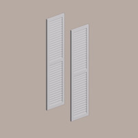 Fypon shutter___LVSH24X54FNCR___SHUTTER LOUVERED W/ CENTER RAIL 24X54X1 SMOOTH