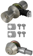 Mobile Home Entry Door Combo Lockset Door Knob and Dead Bolt Stainless Steel Keyed Alike