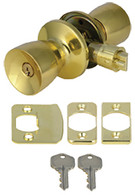 Mobile Home Entry Door Lockset Door Knob Polished Brass