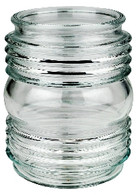 "6"" Globe Clear Glass Jelly Jar Style"