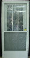 "7660 Series Kinro Cottage Window House Type Steel Door With Standard Storm Size 34""X76"""