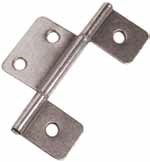 Non-Mortise Hinges for Interior Mobile Home Door Silver