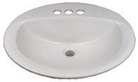 "Mobile Home Lavatory China Sink 17""X20"""