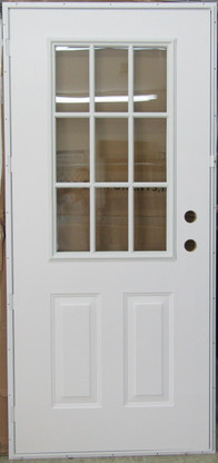 5500 Series Kinro Outswing Steel Entry Door 6 Panel Style With Cottage Window Size 34 X76