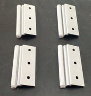 Set of 4 Elixir Brand Storm Door Hinges (White)